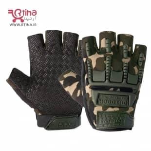 دستکش تاکتیکال نظامی نیمه انگشتی (مردانه و زنانه)