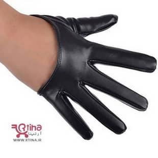 دستکش نیم انگشتی چرم پسرانه