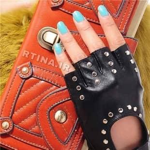 دستکش چرم دخترانه شیک