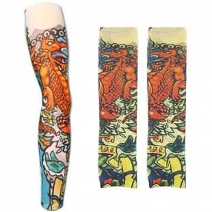 ساق پا و ساق دست طرح تاتو مدل اژدها2