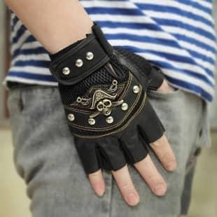 دستکش بدون انگشت چرم پسرانه