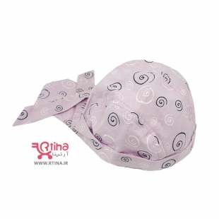 دستمال سر نوزادی دخترانه صورتی
