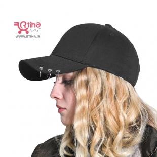 عکس کلاه کپ دخترانه حلقه دار