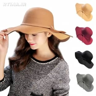 مدل جدید کلاه لبه دار شهرزادی طرح بند دار