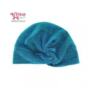 مدل کلاه حجاب توربان سبزآبی