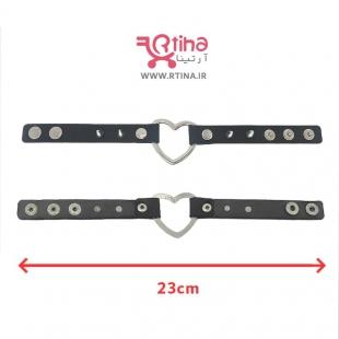 خرید دستبند چرم فلزی
