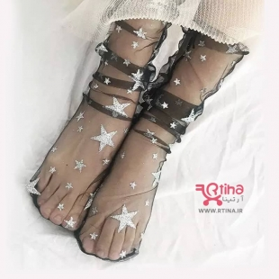 عکس جوراب شیشه ای مجلسی /ژورنالی مشکی -رنگ پا