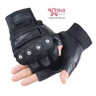 دستکش ورزشی بدنسازی مشکی