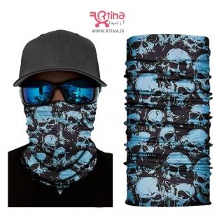 دستمال سر اسکارف دخترانه /پسرانه طرح اسکلت دار