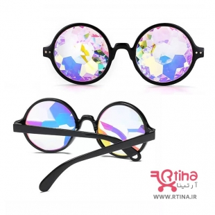 عینک فانتزی شیشه رنگی