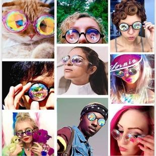 عینک فانتزی دخترانه گرد