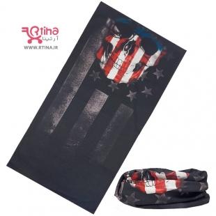 دستمال اسکارف پرچم آمریکا و اسکلت
