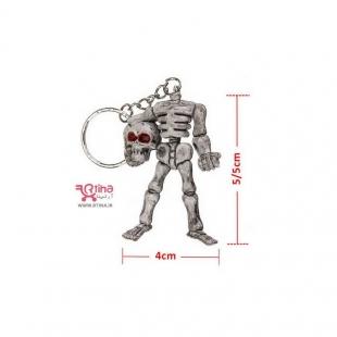 دسته کلید و آویز کیف و ماشین مدل اسکلت