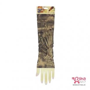 ساق دست خالکوبی دار اسپرت مدل فرشته و صلیب