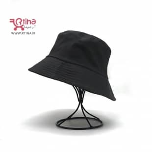 کلاه باکت مشکی ساده کتان (مردانه و زنانه)