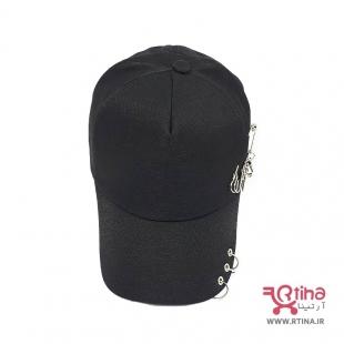 کلاه کپ حلقه دار مشکی ارتینا