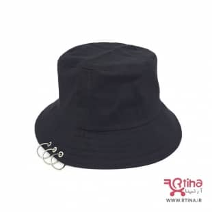 bucket hat (کلاه ماهیگیری) مدل حلقه دار مشکی