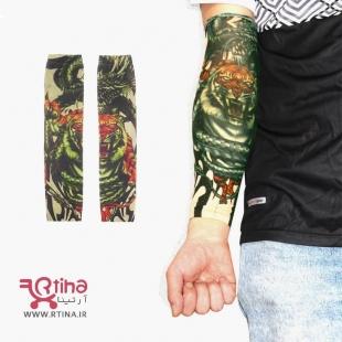 ساق دست طرح تتو رنگی مدل تایگر