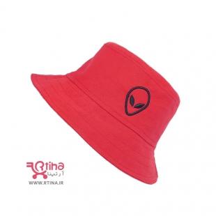 کلاه باکت هد دخترانه/ bucket/  رنگ قرمز آلین