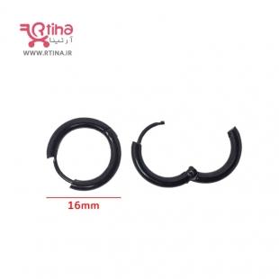 گوشواره حلقه ای سیاه