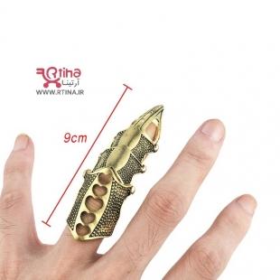 فول انگشتر فلزی/ زرهی بلند/ فری سایز / دخترانه و پسرانه