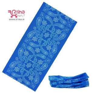 اسکارف دستمال سر کوهنوردی (ورزشی) مدل بته جقه آبی