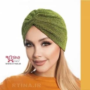 کلاه توربان لمه رنگ سبز (زمینه ساده)