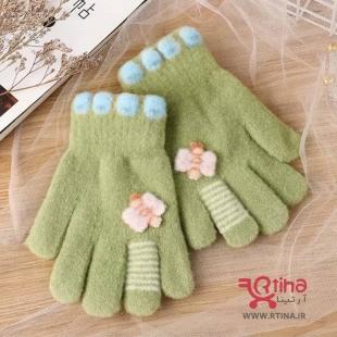 دستکش سبز بچه گانه