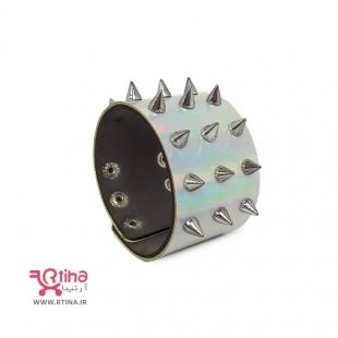 دستبند هولوگرامی اسپایک دار/ سه ردیفه