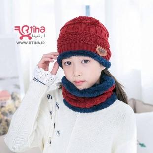 کلاه بافتنی دخترانه بچه گانه