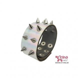 دستبند فشن اسپایک دار دو ردیفه (ست دست بند دختر و پسر)