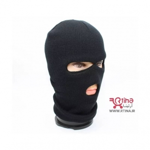 کلاه دو چشمی بافتنی مدل صورت پوش (کلاه دزدی)