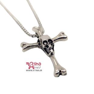 گردنبند اسکلت و صلیب