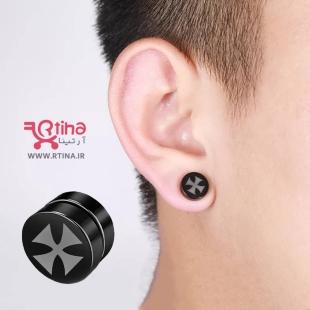 گوشواره مگنتی صلیب پسرانه و دخترانه بدون نیاز به سوراخ گوش