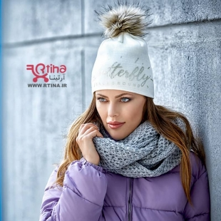 کلاه بافتنی سفید دخترانه و زنانه GRANZ ترکیه