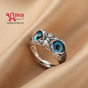 عکس انگشتر اسپرت دخترانه و پسرانه طرح جغد چشم آبی