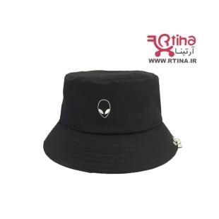 کلاه باکت پیرسینگ دار مدل الین رنگ مشکی