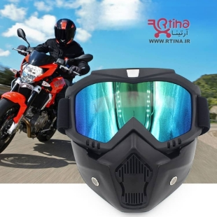 ماسک و عینک اسکی/ موتور سواری حرفه ای با ارسال رایگان