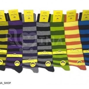 جوراب ساق بلند راه راه رینگی پهن