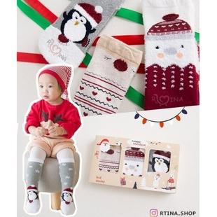 جوراب حوله ای بلند بچه گانه مدل کریسمس