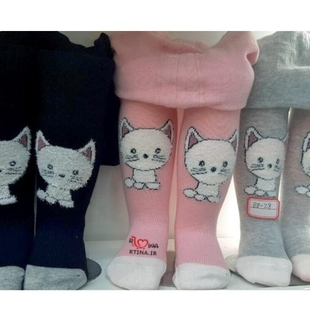 جوراب شلواری طرح برجسته دخترانه