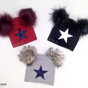 کلاه پوم پوم طرح ستاره