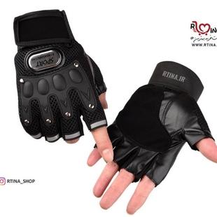 دستکش بدون انگشت اسپرت تاکتیکی طرح 3
