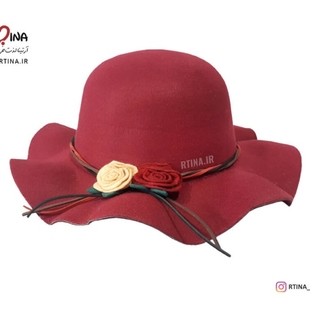 کلاه نمدی دخترانه طرح سوسن