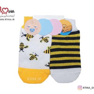 جوراب بچه گانه تا به تا مدل زنبور