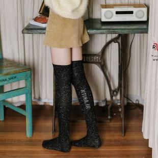 جوراب زانویی لمه ای شیک