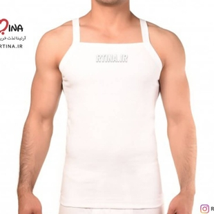 زیر پوش رکابی یقه خشتی مردانه