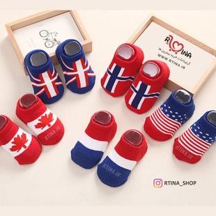 عکس جوراب های فانتزی پرچم کانادا
