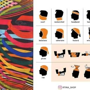 دستمال سر و گردن طرح 9