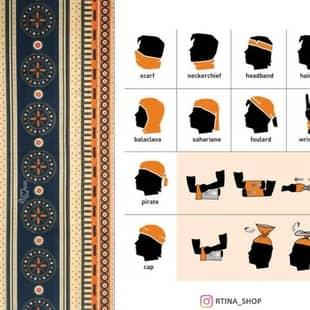 دستمال سر و گردن طرح 11